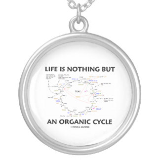 Life Is Nothing But An Organic Cycle (Krebs Cycle) Silver Plated Necklace