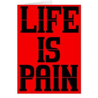 Life is Pain Christmas Card