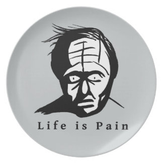 Life is Pain Dinner Plates