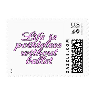Life is pointeless without ballet postage