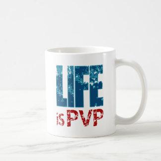 Life is PVP Gamer Design Classic White Coffee Mug