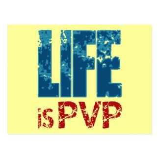 Life is PVP Gamer Design Postcard