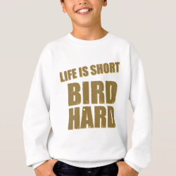 Kids' American Apparel Organic T-Shirt with Life Is Short Bird Hard design