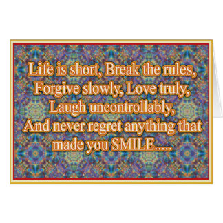 Life is Short Card