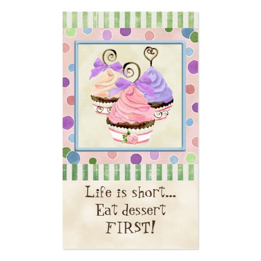 Life is Short Cupcakes - Business Cards (front side)