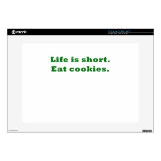 Life is Short Eat Cookies Laptop Decals
