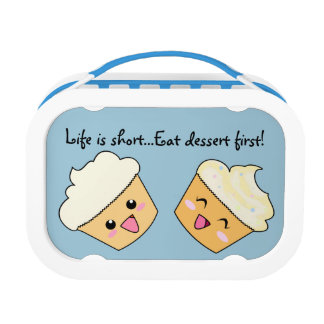 """""""Life is short...Eat dessert first!"""" Cupcakes Lunch Box"""
