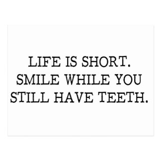 Life is short Funny Quote Postcard