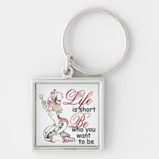 Life is Short keychain