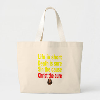 LIFE IS SHORT LARGE TOTE BAG