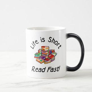 Life is Short Morphing Mug, 2 colors Magic Mug