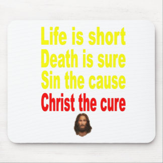 LIFE IS SHORT MOUSE PAD