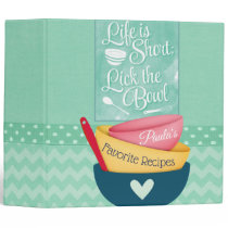 Life Is Short Recipe Binder