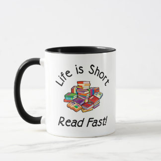Life is Short Ringer Mug, 6 colors, 2 sizes Mug
