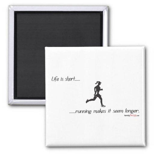 Life Is Short - Running Refrigerator Magnets