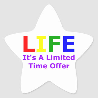 Life Is Short Star Sticker