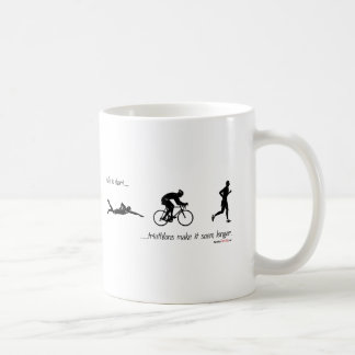 Life is short...triathlons make it seem longer. coffee mug