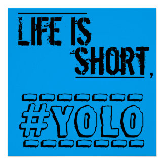 Life is short, YOLO Poster