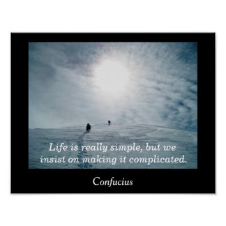 Life is simple - art print
