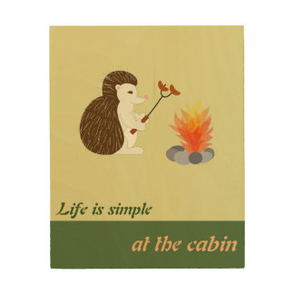 Life is simple at the cabin wood wall art