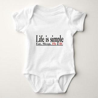 Life is Simple Baby Bodysuit