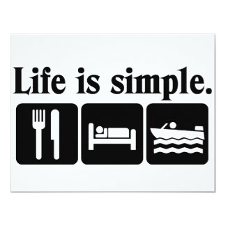Life is simple boating card