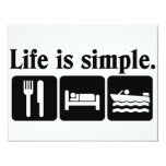Life is simple boating custom announcement