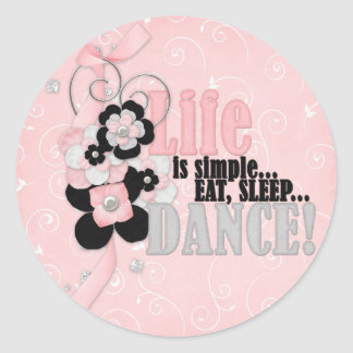 Life is simple classic round sticker