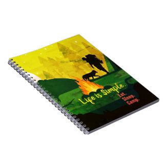 Life is simple eat sleep camp travel notebook
