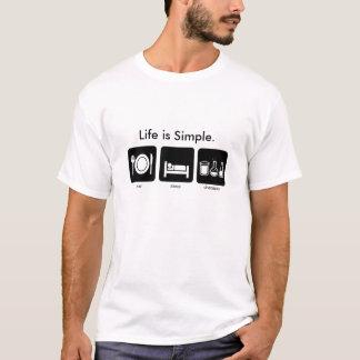Life is Simple. Eat. Sleep. Chemistry. T-Shirt