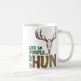Life is Simple. Eat Sleep Hunt. Coffee Mug