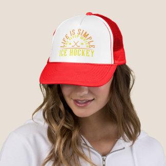 Life is Simple Eat Sleep Watch Ice Hockey Trucker Hat