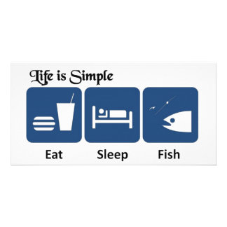 Life is simple, Fish Card