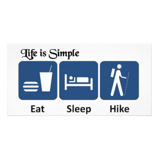 Life is simple, Hike Card
