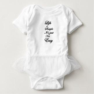 life is simple it is not easy baby bodysuit