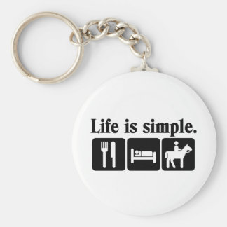 Life is simple keychain
