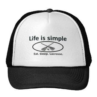 Life is simple, lacrosse trucker hat