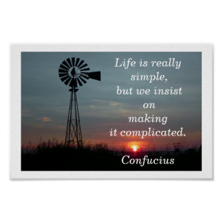 Life is simple poster