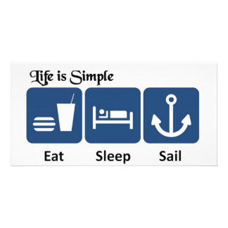 Life is simple, sail card