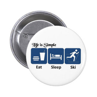 Life is simple, ski button
