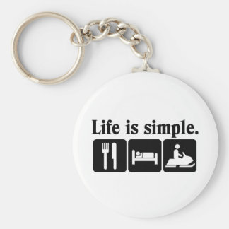 Life is simple, snowmobiling keychain