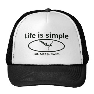 Life is simple, swim trucker hat