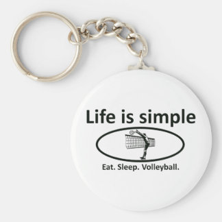 Life is simple volleyball keychain