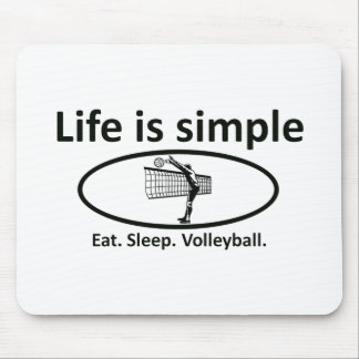 Life is simple, volleyball mouse pad