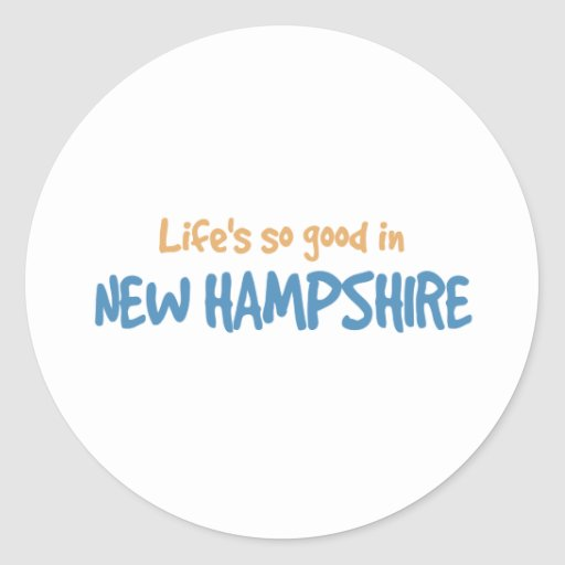 Life is so good in New Hampshire Classic Round Sticker