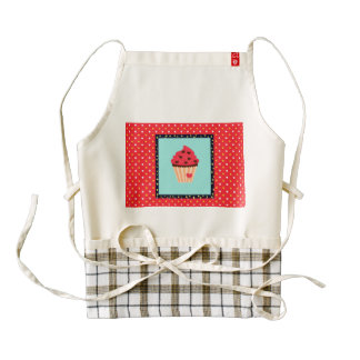Life is Sweet As Cupcake Zazzle HEART Apron
