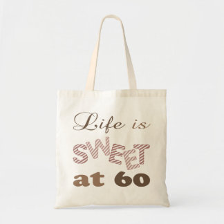 Life Is Sweet At 60 Canvas Bag