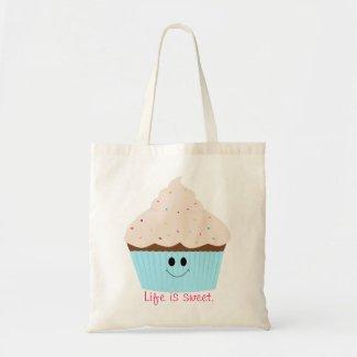 Life is Sweet Cupcake tote bag bag