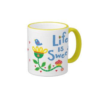 Life is sweet ringer mug
