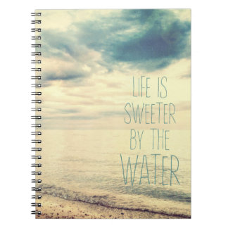 Life Is Sweeter Beach Scene Notebook